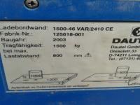Dautel 2003 1,5 tonna allácsukható emelőhátfal